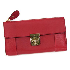 Chloe - ELSIE LONG ZIPPED WALLET CHERRY