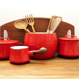 DANSK - Kobenstyle 4-Piece Red Enamel Pot Collection