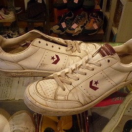 """converse - 「<used>80's converse JIMMY CONNORS white/burgundy""""made in YUGOSLAVIA"""" size:US10/h(28.5cm) 7800yen」完売"""