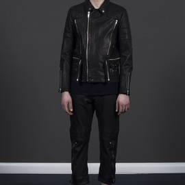 UNDERCOVER - FW2011 Leather Quilted Riders Jacket