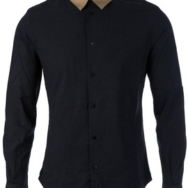 CARVEN - Black cotton 'Froisse' shirt