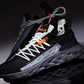 NIKE - React WR ISPA - Black/Metallic Silver