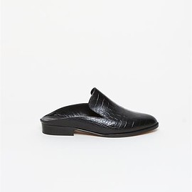 Alice Mule - Black Croco