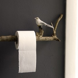 Twig toilet role holder. So Rustic....