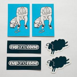 cup and cone - Navy/Blue Sticker Pack