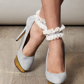POM RAFFIA AND SILK PLATFORM SANDALS