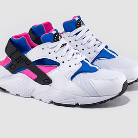 Nike - Air Huarache - White/Black/Pink Pow/Blue
