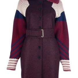 KENZO - KENZO - belted multi-colour coat 1