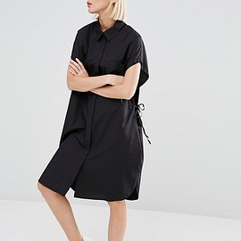 Weekday - Shirt Dress with Drawstring Waist