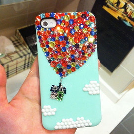 Bling Rhinestone Case - Hot Air Balloon iPhone Case
