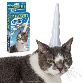 Archie McPhee - Inflatable Unicorn Horn for Cats
