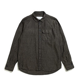 S.E.H Kelly - Northern Irish Pinpoint Linen Raglan Shirts-Forest