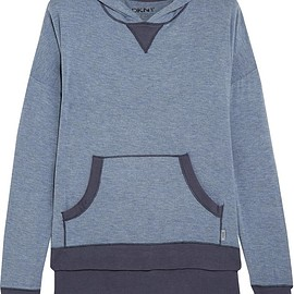 DKNY - Stretch-modal hooded top