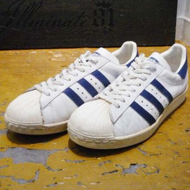 adidas - super star, white x navy
