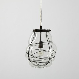 west elm - Organic Blown Glass Pendant