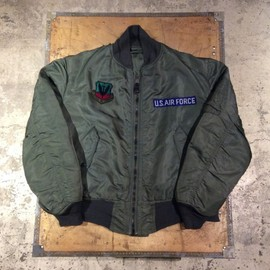 U.S.Air Force - MA-1 Flight Jacket/Ground Cre/80′s Vintage