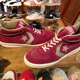 """converse - 「<used>80's converse ALLSTAR QUANTUM MID burgundy""""made in USA"""" size:US10/h 13800yen」完売"""