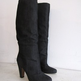 Maison Martin Margiela 22 - coated denim pull on boots