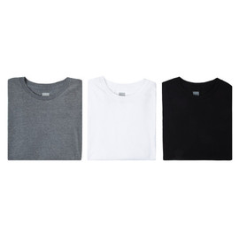 HUF - 3 PACK TEE (Athletic Heather/Black/White)