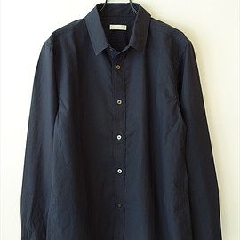 niuhans - Finx Cotton Typewriter Shirt/ ダークネイビー