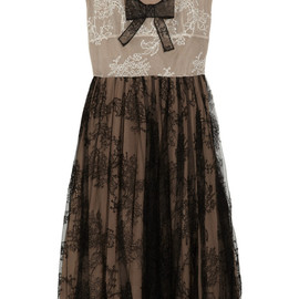 VALENTINO - Pleated lace dress