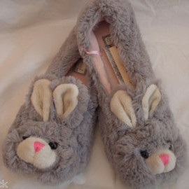 CUTE FLUFFY BUNNY RABBIT SLIPPERS