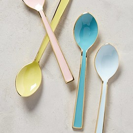 Anthropologie - Pastel Tea Spoons