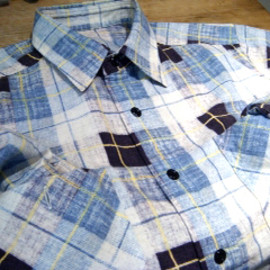 N.HOOLYWOOD - BLUE CHECK SHIRT (08A/W)