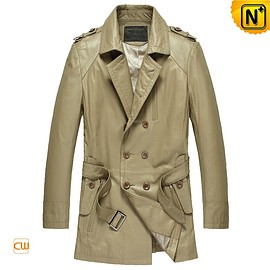 Cwmalls - Zagreb Leather Trench Coat CW850811