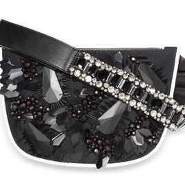 MARNI - SS2014 Floral embroidery with crystal cabochons Small Hip Bag