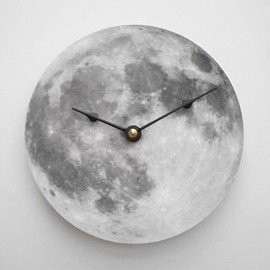 CyberMoon - Silver Moon Clock
