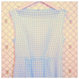Girly Rose - gingham check one-piece