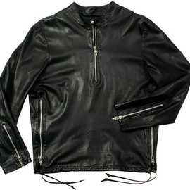 CHROME HEARTS - Black Leather Easy Riders
