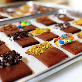 Chocolate Cookies with Toppings