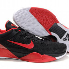 Kobe 7 (VII) Black/Varsity Red Nike Mens Size Shoes