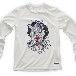 NADA. - Cartoon chainsaw massacre Long-sleeve tee / White