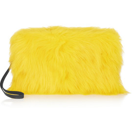MAIYET - Rhea leather-trimmed goat hair clutch