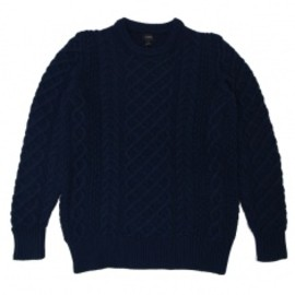 J.CREW - Cotton cable Sweater NAVY