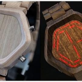 Kisai - nightvisionwoodwatch Kisai Night Vision Wood LED Watch   now you see it, now you dont