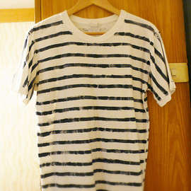 ETERNAL - Indigo stripe T-shirt