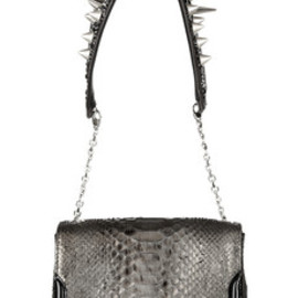 Christian Louboutin  - Artemis studded python shoulder bag