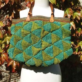 Jamin Puech - Cassia raffia bag with leather handles