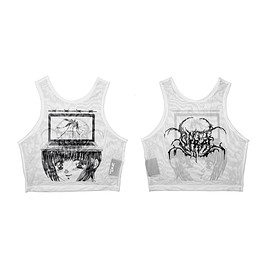 "damage group - Image of DVMVGE  ""Anti-Viral' by Yenta"" Crop Top (3 colors)"