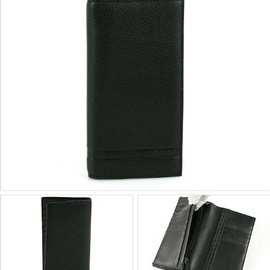 COACH - Camden Pebbled Leather Mens Wallet BLK