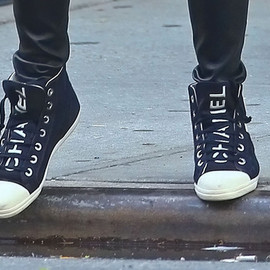 CHANEL - Canvas High Top Sneakers