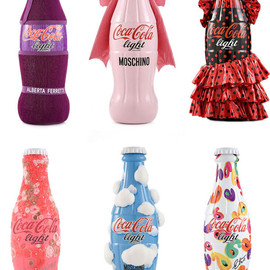 coca cola light designer bottles tribute to fashion coca cola light designer bottles tribute to fashion