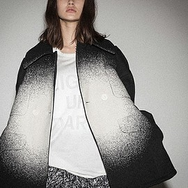 ANREALAGE - LIGHT UP JACQUARD DOUBLE COAT