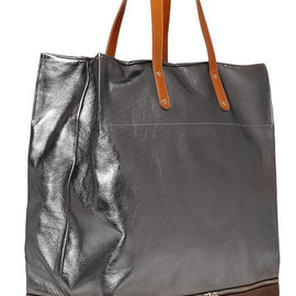 Paul Smith - Paul Smith Metallic Leather Tote Bag in Silver for Men - Lyst