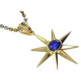 Allneedfulthingsstore.com - The Patriot North Star Charm Pendant Necklace Gold Plated Jewelry
