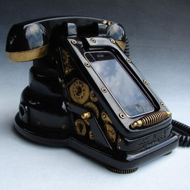 freelandstudios - iRetrofone Steampunk - Black/Gold